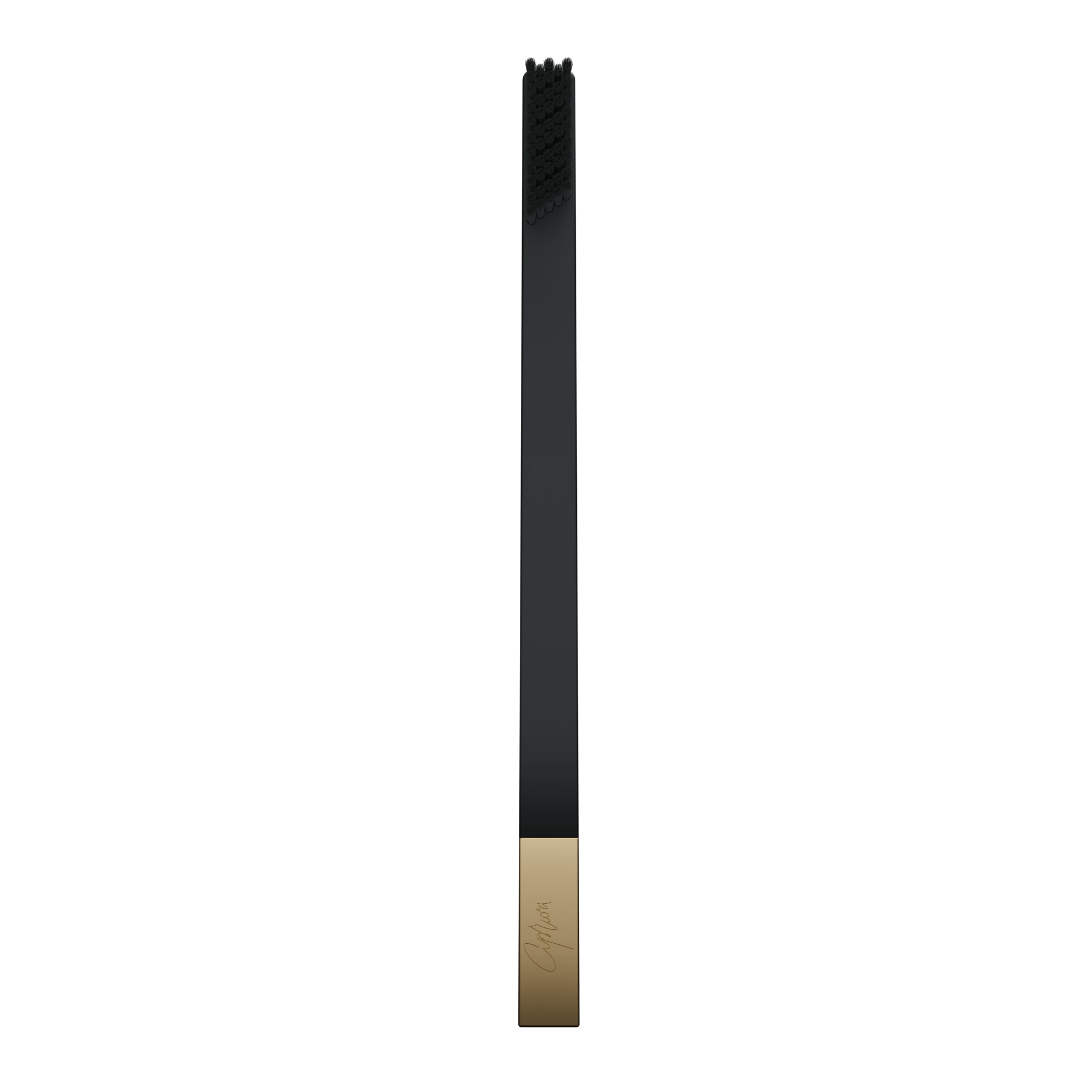 SLIM by Apriori black & gold disposable toothbrush