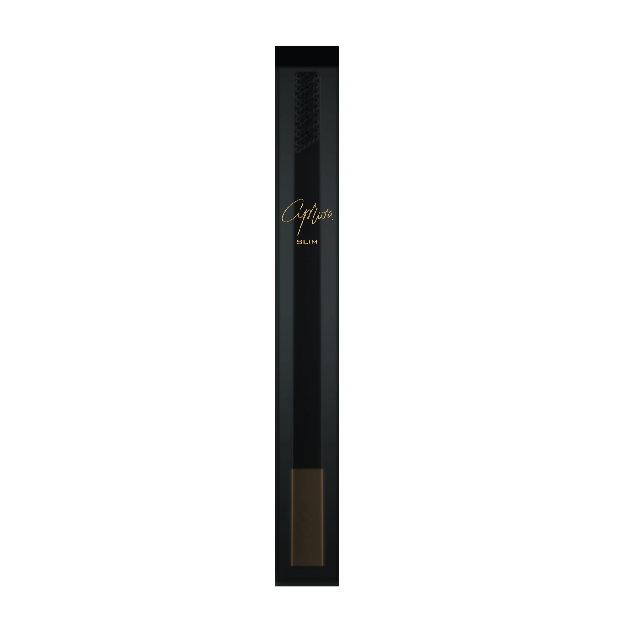 SLIM by Apriori black & gold disposable toothbrush package