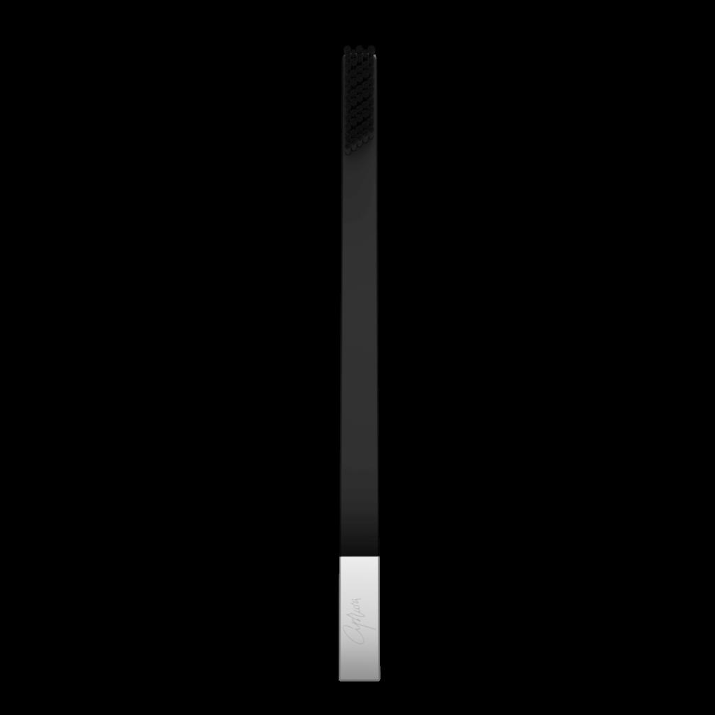 SLIM by Apriori black & silver designer toothbrush