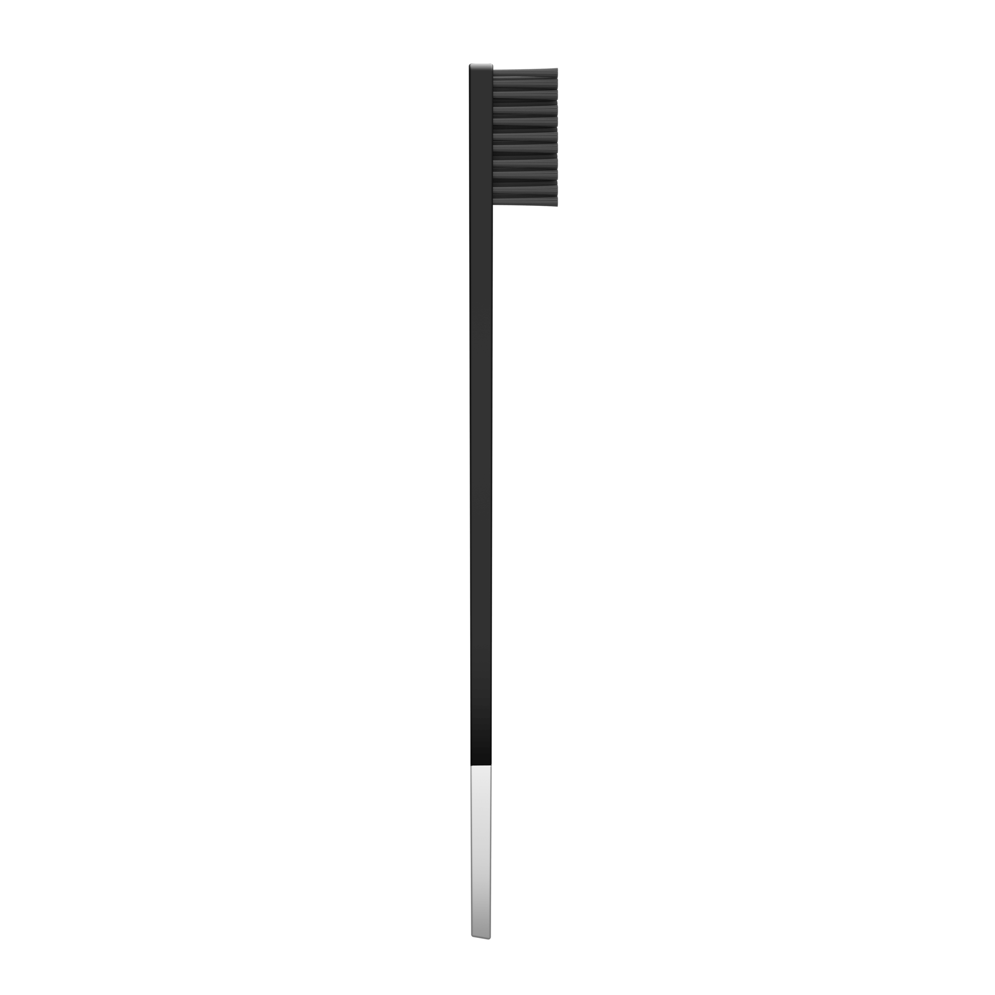 SLIM by Apriori black & silver disposable toothbrush