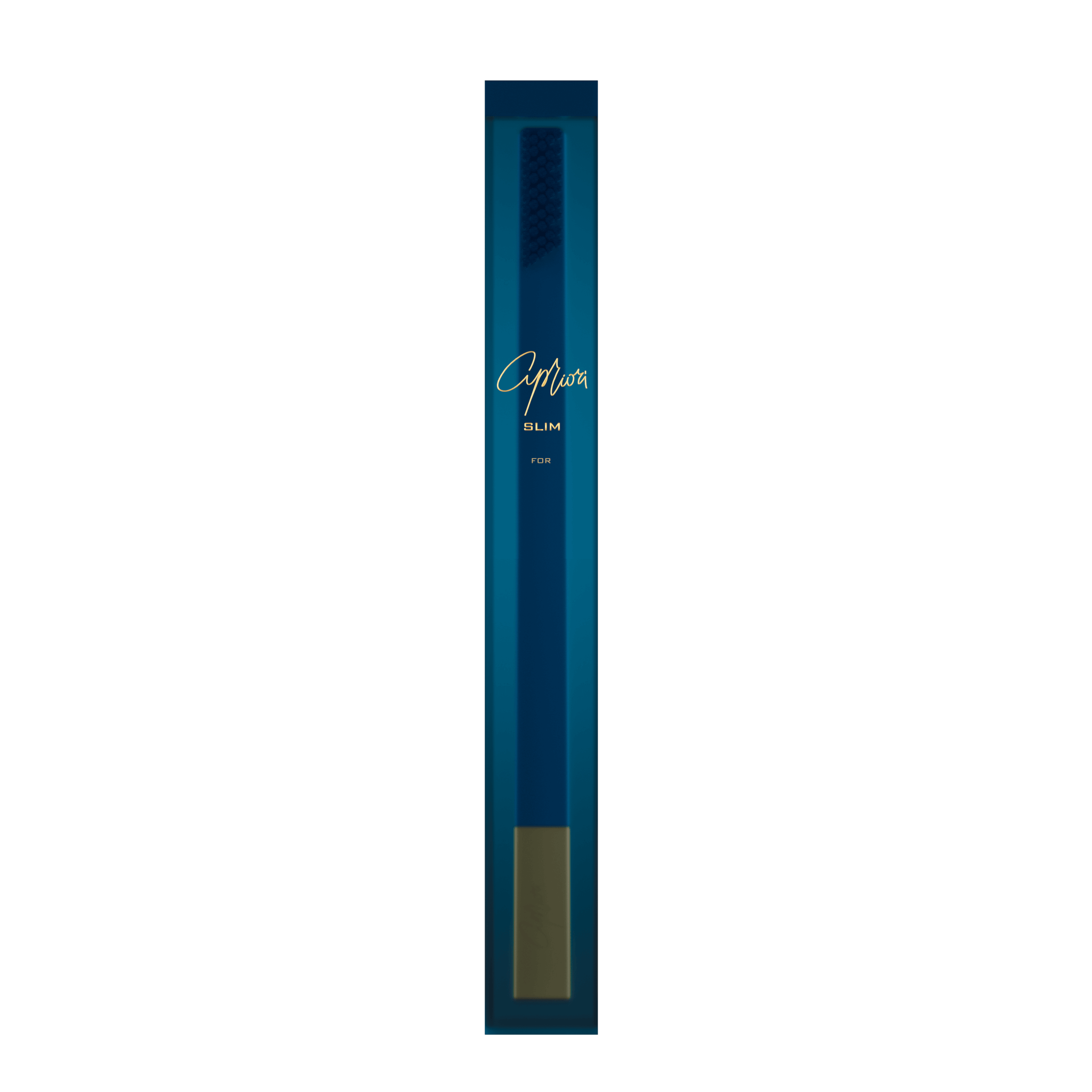 SLIM by Apriori sapphire & gold designer toothbrush package