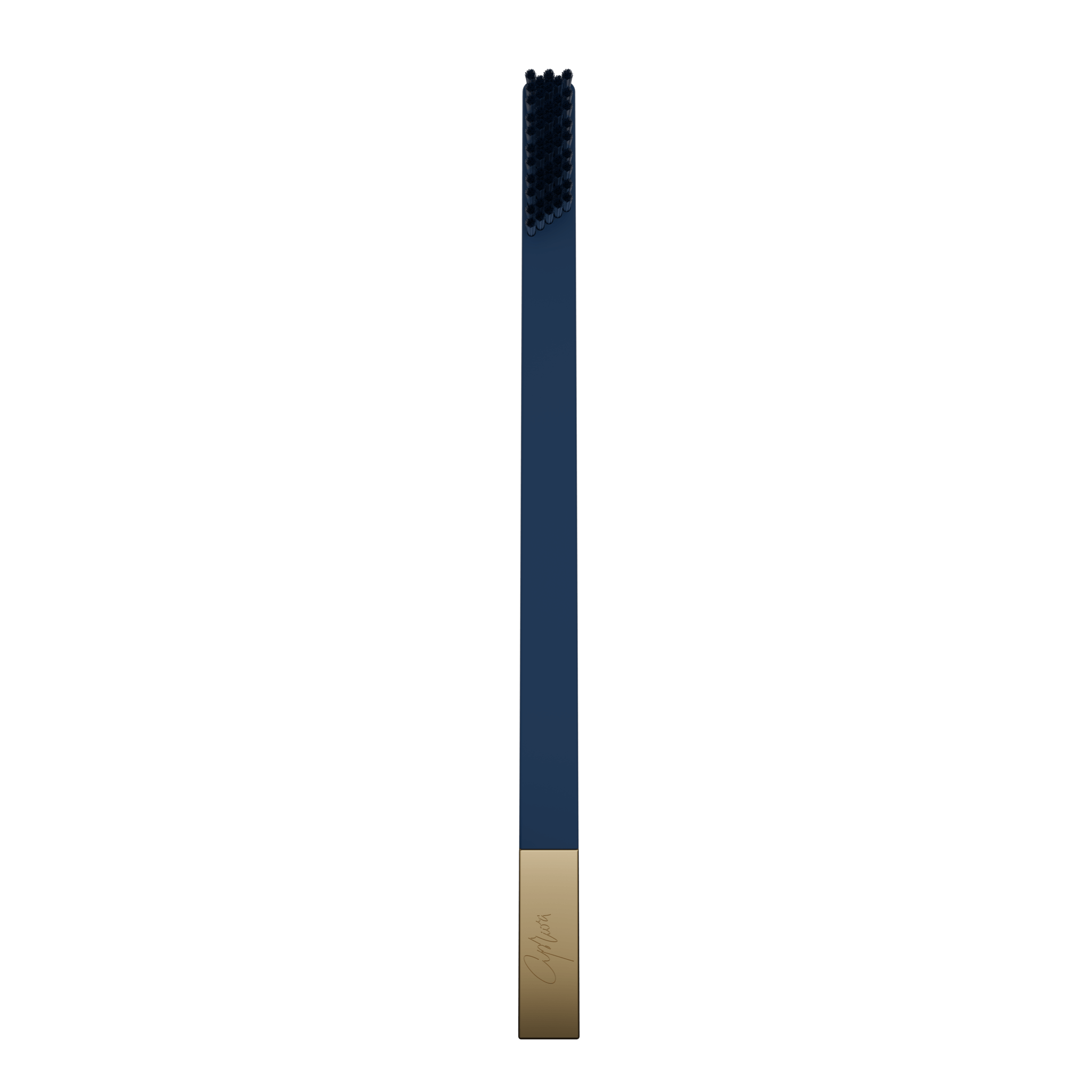 SLIM by Apriori sapphire & gold disposable toothbrush