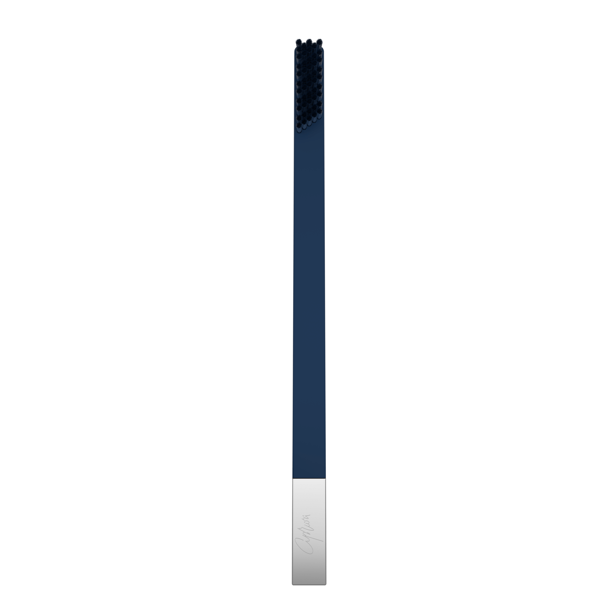 SLIM by Apriori sapphire & silver disposable toothbrush