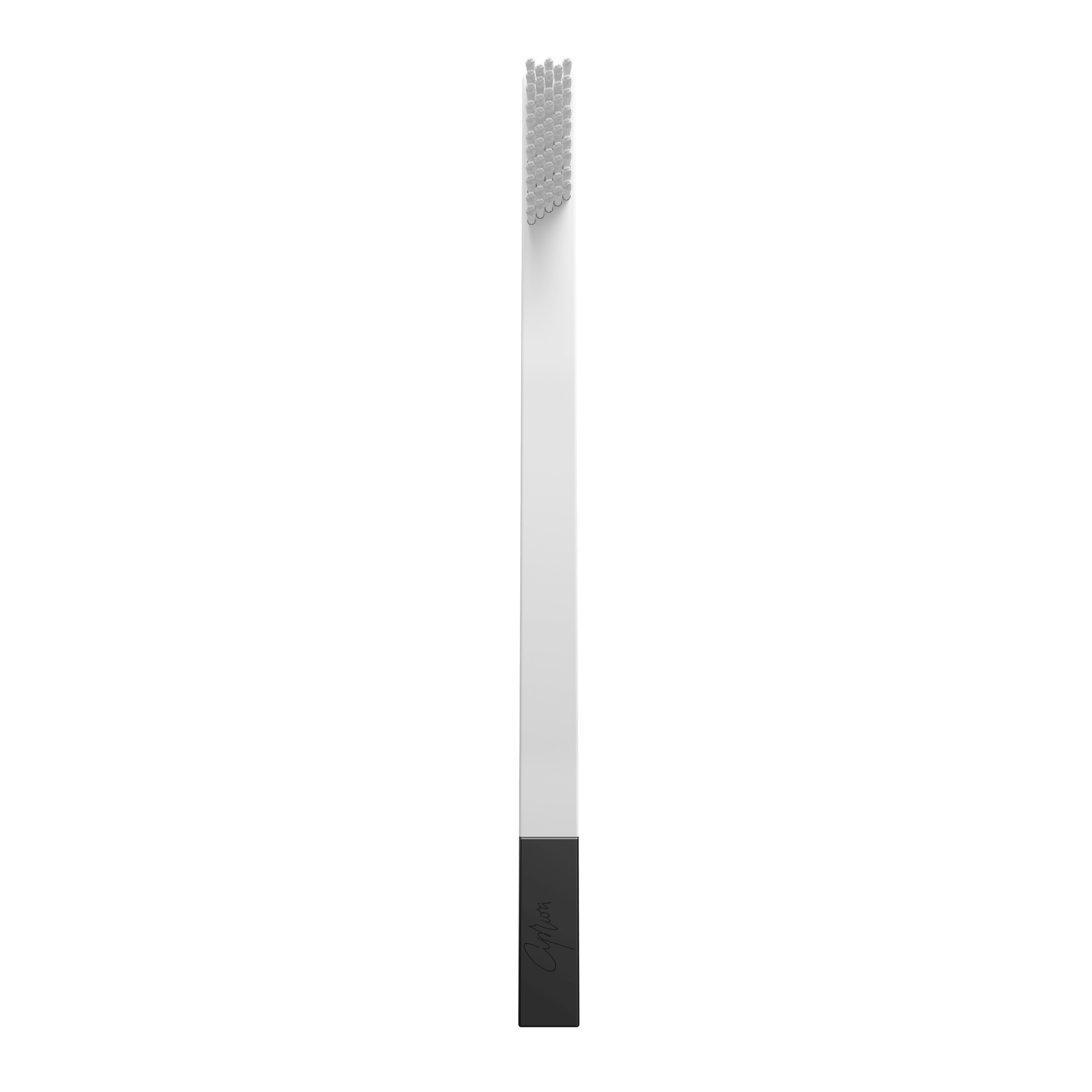 SLIM by Apriori white & black disposable toothbrush