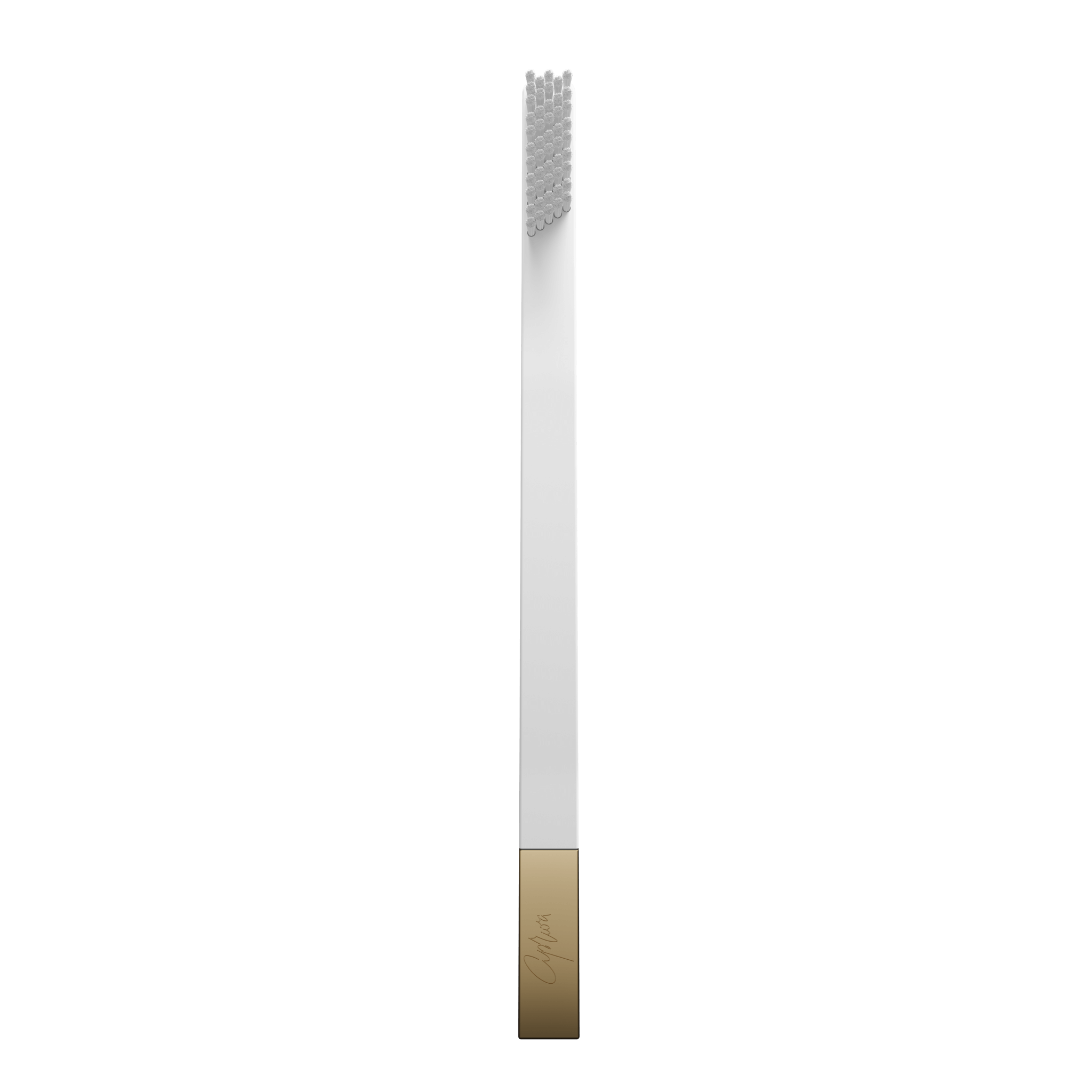 SLIM by Apriori white & gold disposable toothbrush