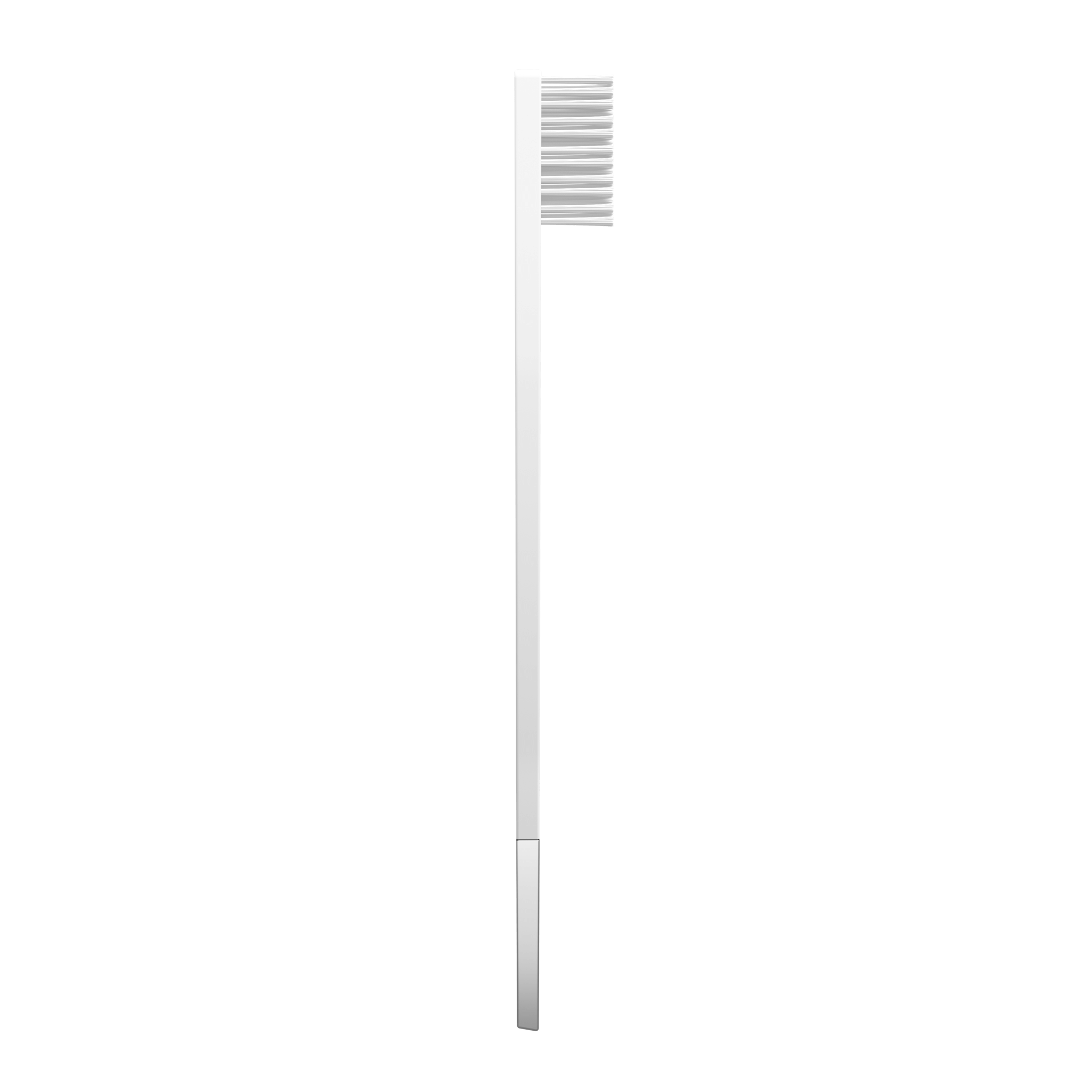 SLIM by Apriori white & silver disposable toothbrush