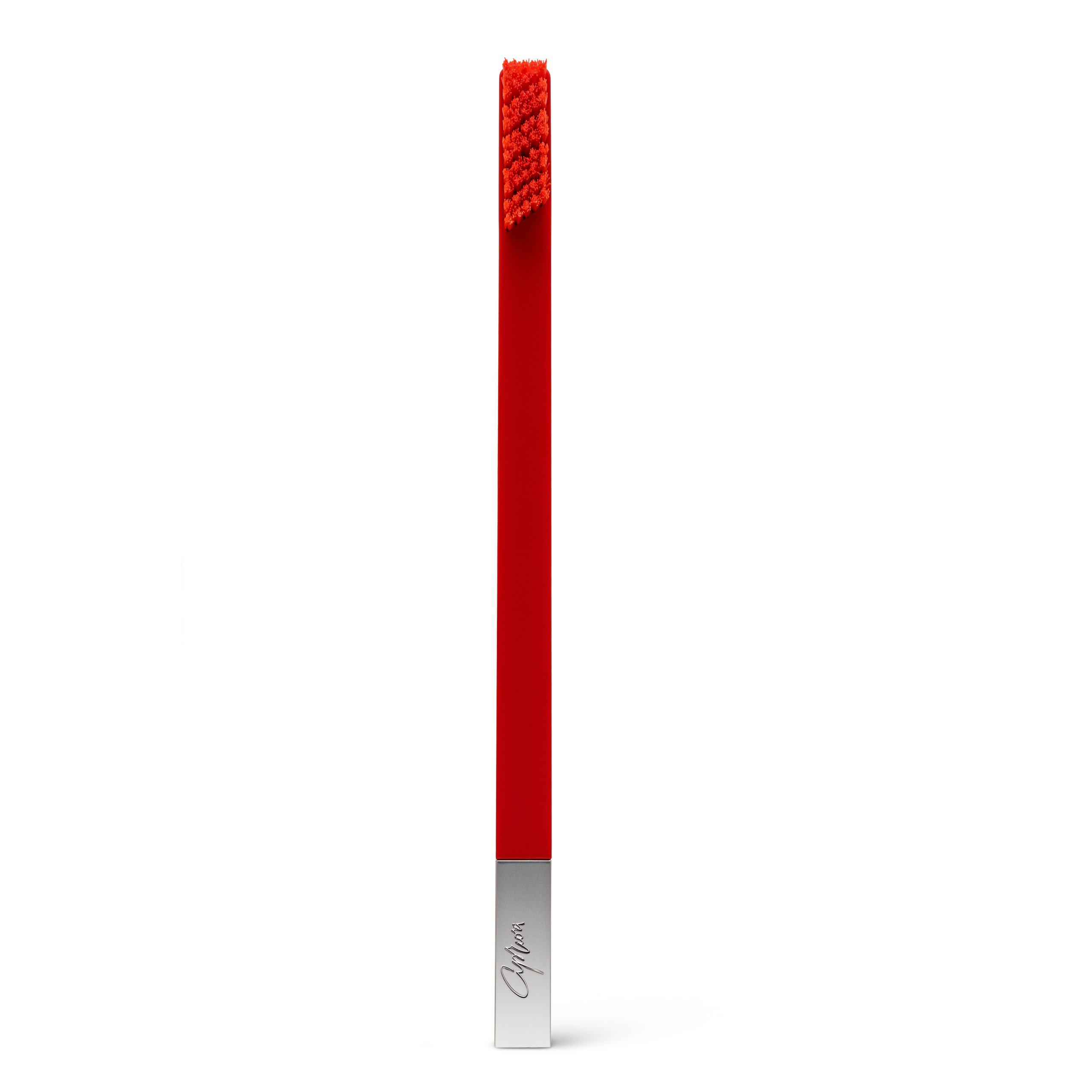 Carmine Red Silver designer toothbrush SLIM by Apriori